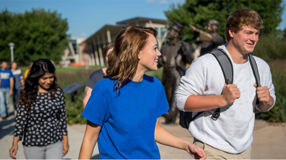 Image of Students Walking